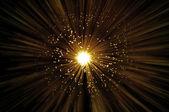 Golden fiber optic abstract — Stock Photo