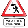 Stock Photo: Weather warning concept.