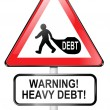 Debt warning. — Foto de Stock