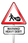 Debt warning. — Stock Photo