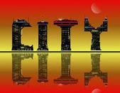 抽象的な市のコンセプト. — ストック写真
