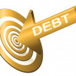Royalty-Free Stock Photo: Target the debt.