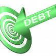 Target the debt. — Stock Photo