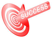 Targetting success. — Stock Photo