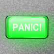 Stock Photo: Panic button.