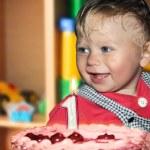 One year boy birthday — Stock Photo
