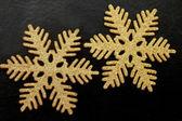 Golden snowflakes — Stock Photo