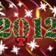 2012 celebration background - Stock Photo