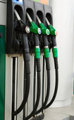 Column for refueling vehicles with gasoline — Stock Photo