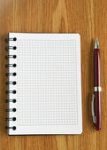 Notebook and pen — Stockfoto