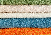 Towels of different colors — Stock Photo