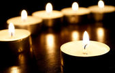 Memorial Candles — Stock Photo