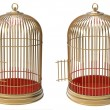 Stock Photo: Gold cage