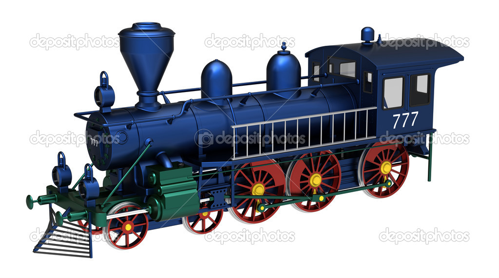 3d render of  train steam on a white background — Stock Photo #7006291