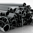 Foto Stock: Metal pipes