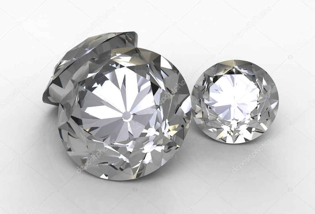 3d render of  two jewels against — Stock Photo #7040600