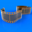 Film on a dark blue background — Stockfoto