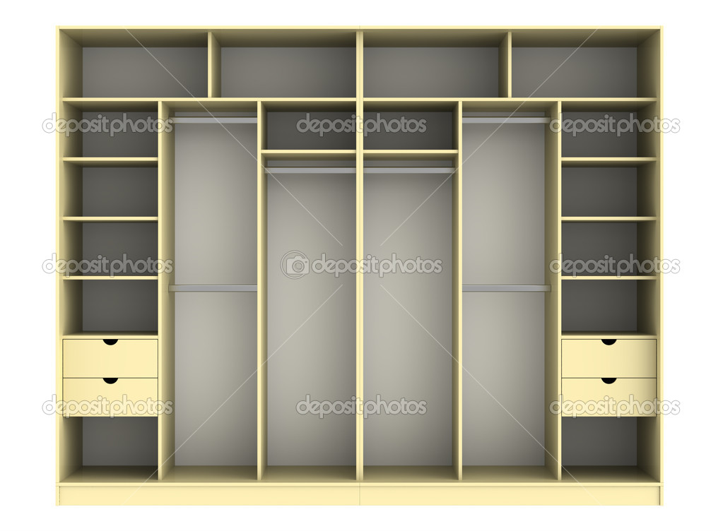 3d render of  wardrobe on a white background — Photo #7307005
