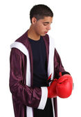 Boxer preparing for a fight — Foto Stock
