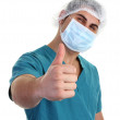 Surgeon with a thumbs up sign — Stock Photo #7535450