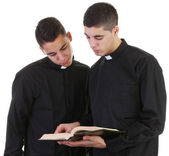 Two priests — Stock Photo