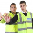 Stock Photo: Two security guards