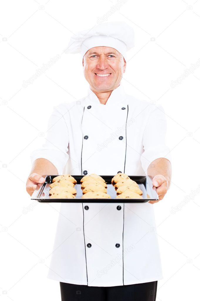 Smiley cuisinier avec cookies photographie konstantynov for Cuisinier 94 photos