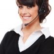 Smiley telephone operator over white background — Stock Photo #7762825