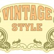Vector de stock : Vintage style label