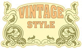 Vintage styl popisek — Stock vektor