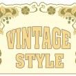 Stock Vector: Vintage style label