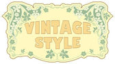 Vintage tarzı etiket — Stok Vektör