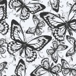 Seamless pattern with butterflies — Stock Vector #7235312