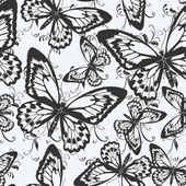 Seamless pattern with butterflies — Cтоковый вектор