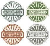 Mejor sello de calidad — Vector de stock
