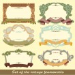 Set of the vintage frameworks — Stock Vector