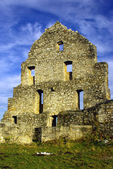 Ruins of an ancient medieval European castle — Stock Photo