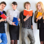 Studenten. hautnah — Stockfoto