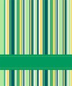 Striped green background — Stock Vector