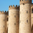 Detail of the Aljaferia Palace in Zaragoza, Spain - Stock Photo