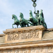 Brandenburg Gate and Quadriga — Stok Fotoğraf #6876688