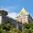 Chateau Frontenac from Old Quebec City — Stock Photo