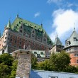 Chateau Frontenac from Old Quebec City - Stockfoto