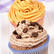 Two fancy cupcakes — Stock Photo