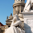 Stock Photo: Detail of the French Dome and the monument to german poet Friedr