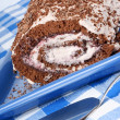 Chocolate swiss roll — Stock Photo #6877455