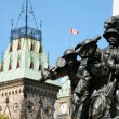 Detail of National War Memorial and Parliament of Canada in Otta - Zdjęcie stockowe