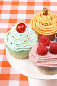 Fancy cupcakes assortment — Stock Photo