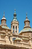 Baziliky Panny Marie pilíře v Zaragoze — Stock fotografie