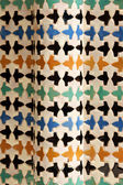 Ceramic tile works at Nasrid Palaces in Granada — Stock Photo